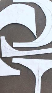 Realización letrero comercial cerámica artística Luis Torres Ceramics La Rambla