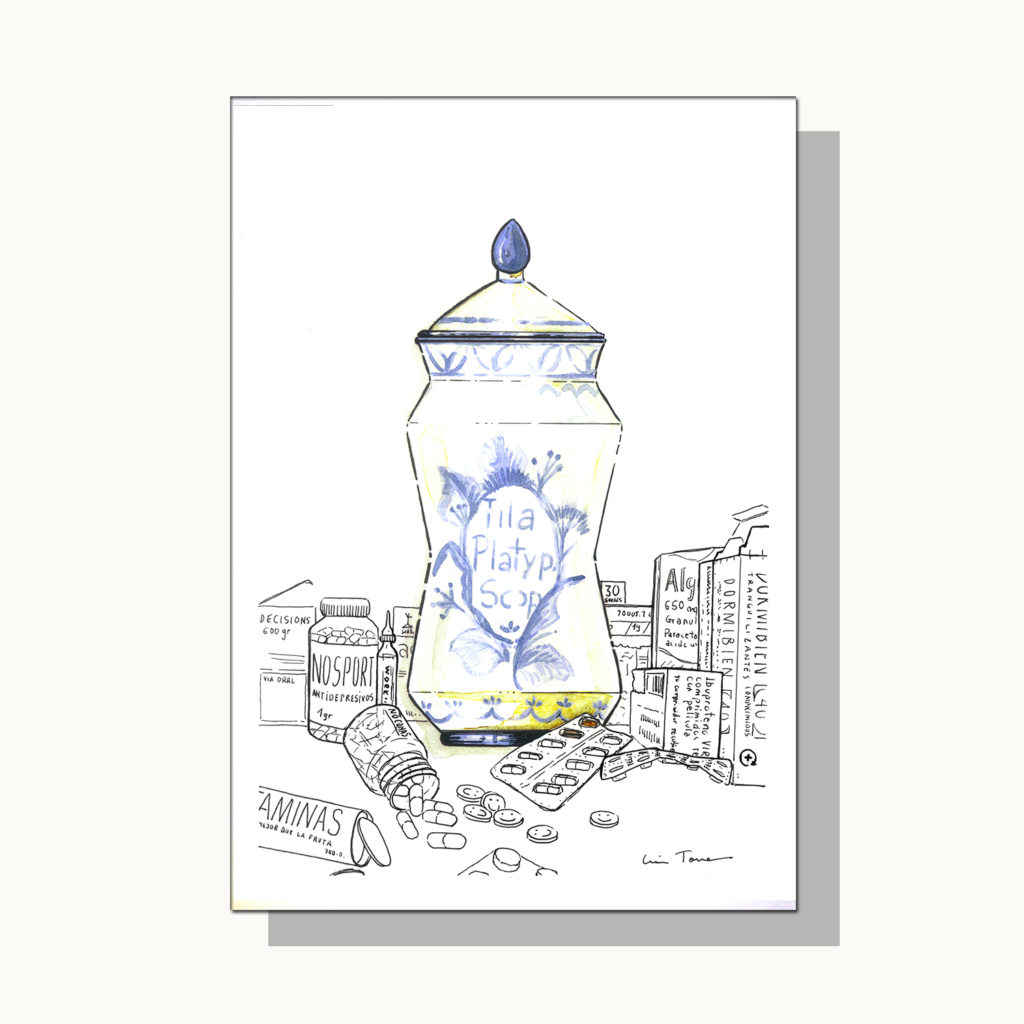 ilustracion_illustration_slow_down_luis_torres_ceramics_albarelo_vs_overmedication